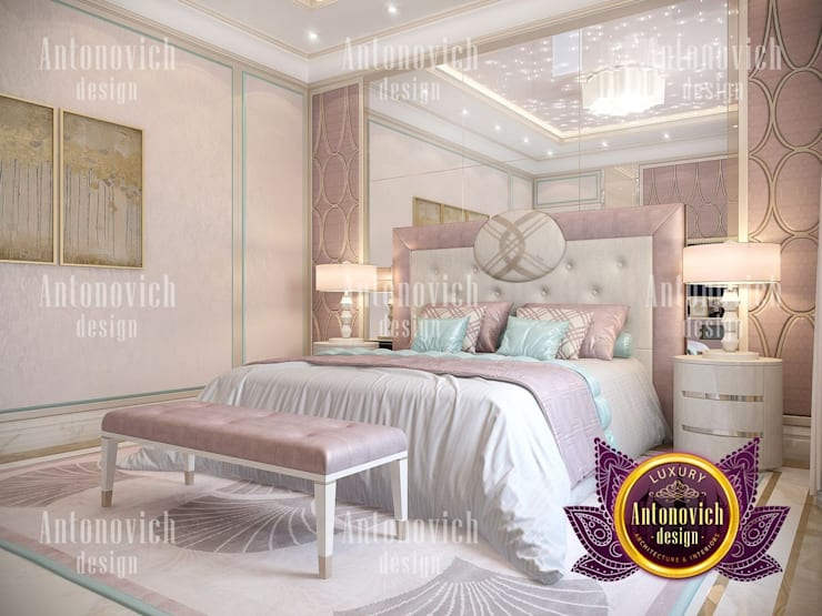 Femme Pastel Bedroom For All Ages:   by Luxury Antonovich Design