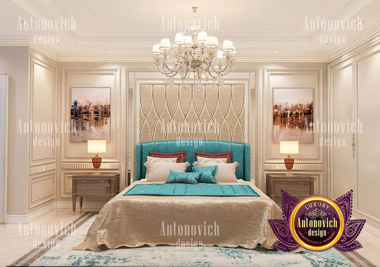 "Contemporary Bedroom Interior with Turquoise Accent: {:asian=>""asian"", :classic=>""classic"", :colonial=>""colonial"", :country=>""country"", :eclectic=>""eclectic"", :industrial=>""industrial"", :mediterranean=>""mediterranean"", :minimalist=>""minimalist"", :modern=>""modern"", :rustic=>""rustic"", :scandinavian=>""scandinavian"", :tropical=>""tropical""}  by Luxury Antonovich Design,"