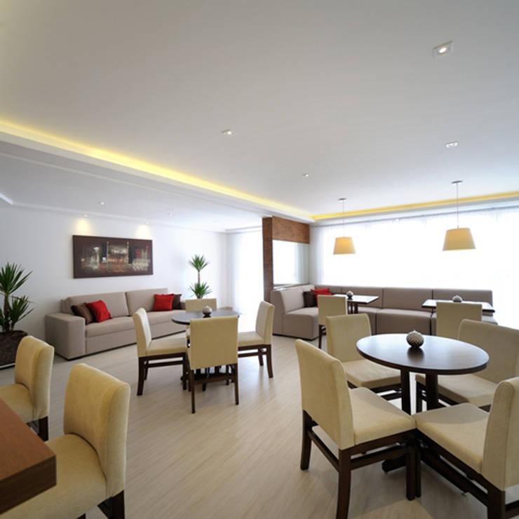 Salão de Festas : Salas de jantar  por Aline Dinis Arquitetura de Interiores