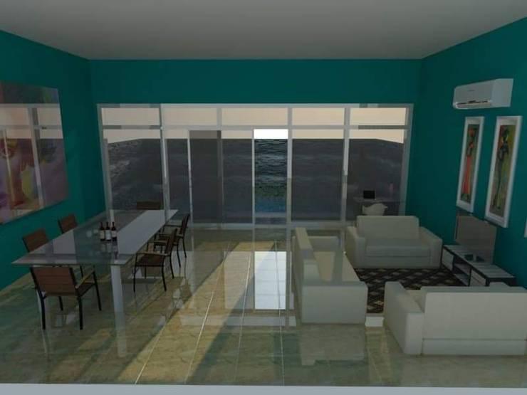 Ruang Makan dan Ruang Keluarga:   by Angga Design Architecture
