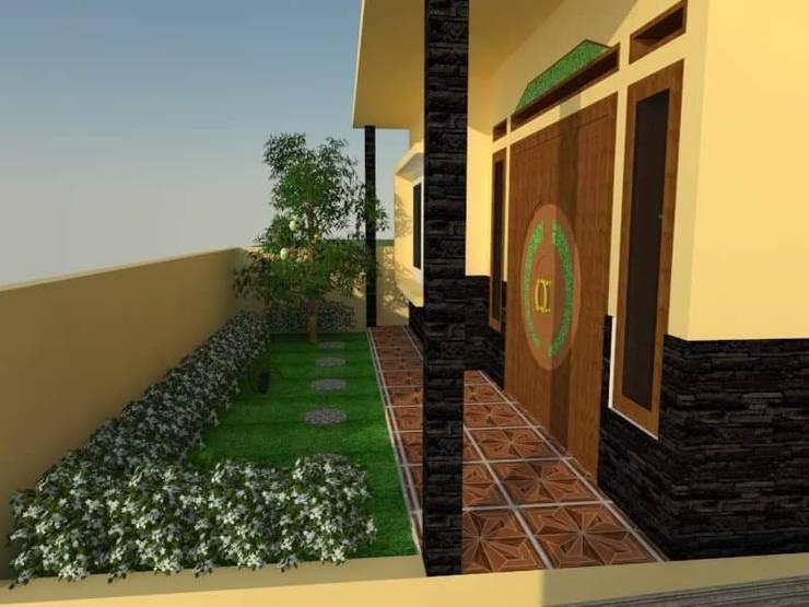 Tampak Samping + Taman Depan:   by Angga Design Architecture