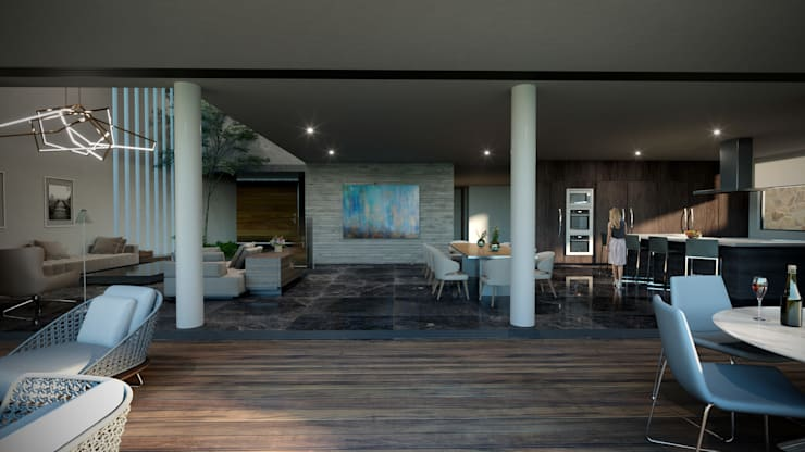 Terrazas  de estilo  por HAC Arquitectura, Moderno