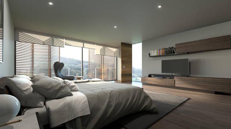 Dormitorios de estilo  por HAC Arquitectura, Moderno