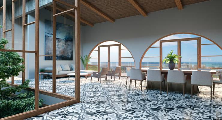 Wohnzimmer von HAC Arquitectura, Modern