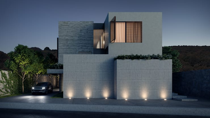 Houses by HAC Arquitectura, Modern