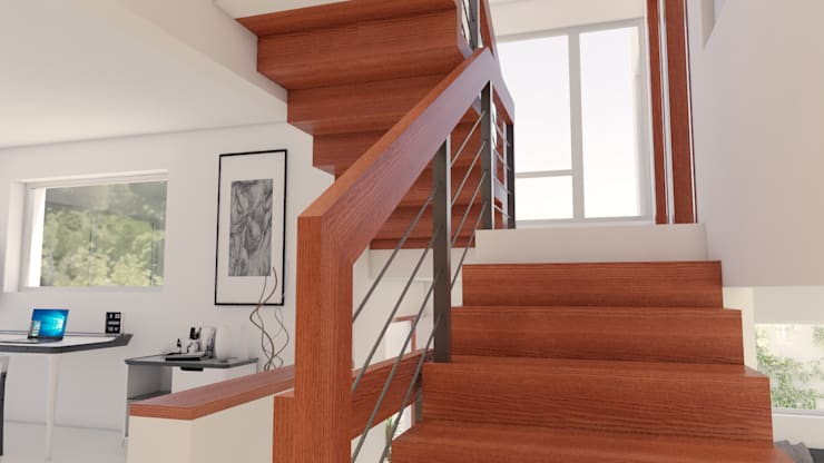 Stairs by URBAO Arquitectos, Modern Wood Wood effect