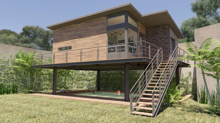 Bungalow by URBAO Arquitectos, Modern Iron/Steel