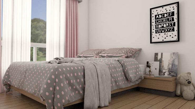 Girls Bedroom by URBAO Arquitectos, Modern Wood Wood effect