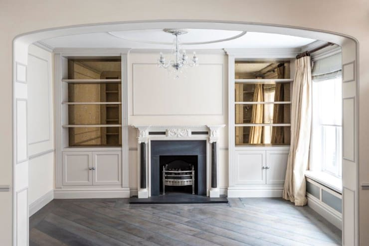 Knightsbridge Townhouse :  Living room by Prestige Architects By Marco Braghiroli