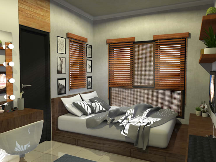 Desain Kamar Tidur 1 :   by WARS ( W Architect Studio )