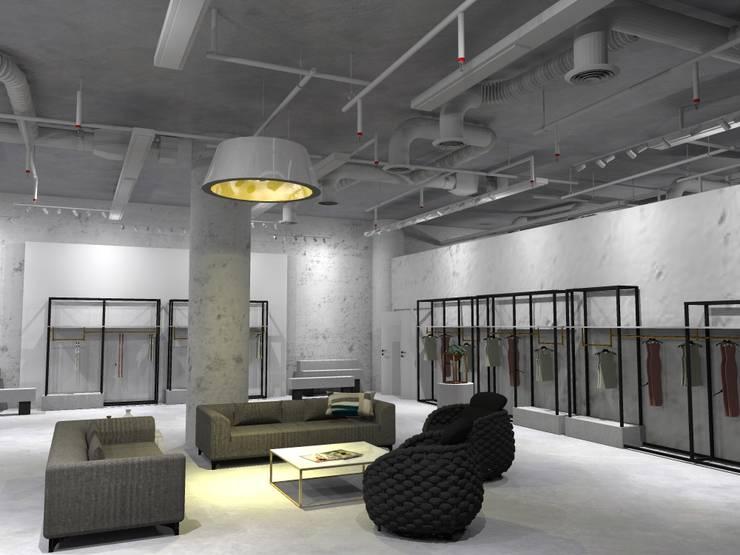 Ruang Santai  Tamu x Etalase :  Pusat Perbelanjaan by WARS ( W Architect Studio )