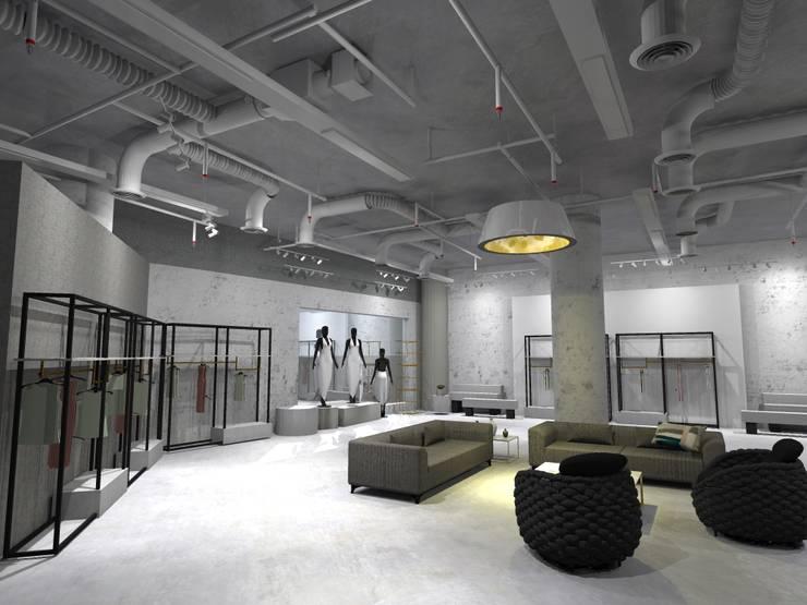 Ruang Santai  Tamu x Etalase 2:  Pusat Perbelanjaan by WARS ( W Architect Studio )