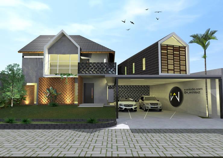 Tampak Depan + Taman :   by WARS ( W Architect Studio )