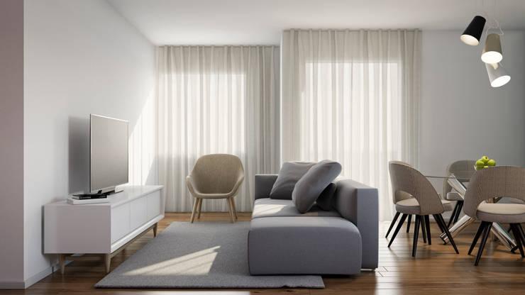 Livings de estilo moderno de Alma Braguesa Furniture Moderno Madera Acabado en madera