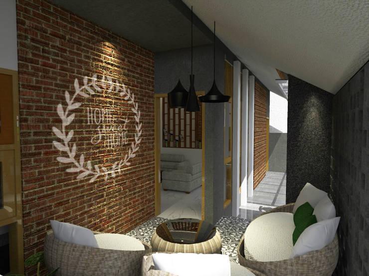 RZ House (Design Ruang Depan) :   by WARS ( W Architect Studio )