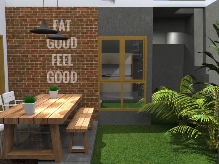 RZ House ( Design Halaman Belakang) :   by WARS ( W Architect Studio )