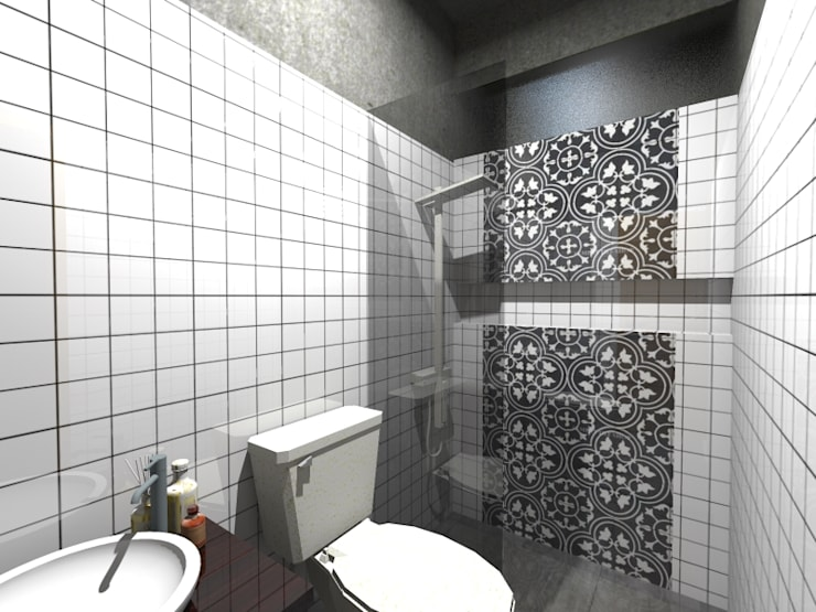 RZ House (Design Kamar Mandi) :   by WARS ( W Architect Studio )