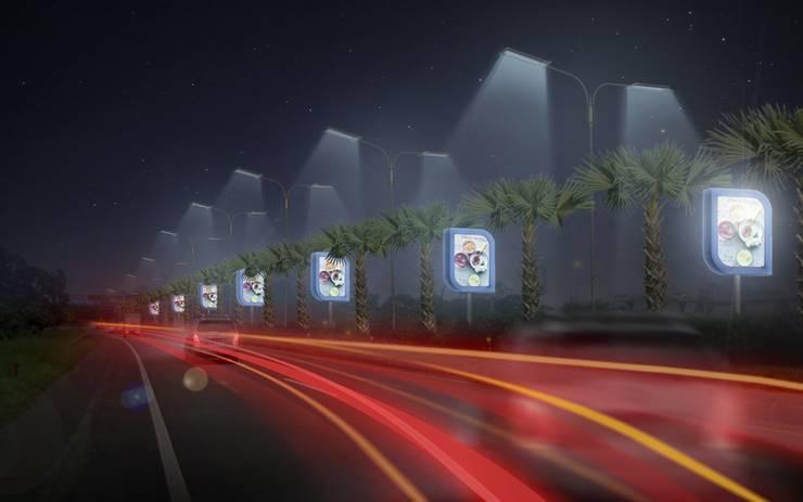 Billboard Median Malam :   by WARS ( W Architect Studio )