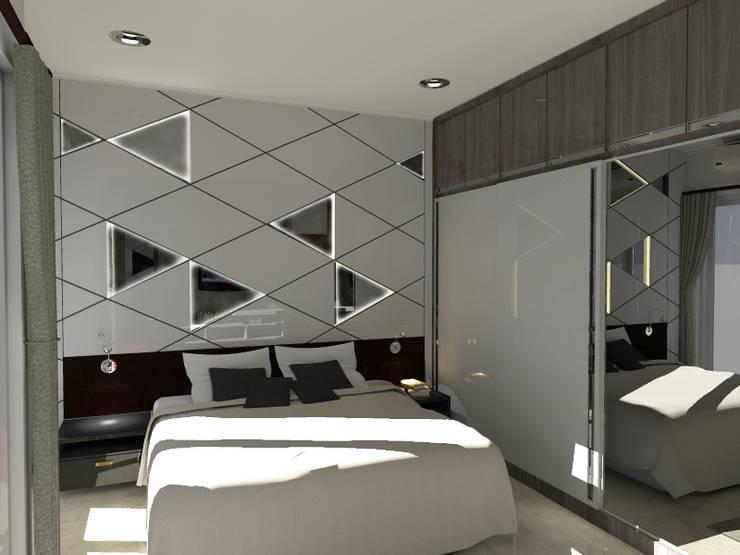 Kamar Tidur Utama :   by WARS ( W Architect Studio )