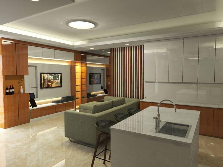 Ruang Keluarga + Dapur :   by WARS ( W Architect Studio )