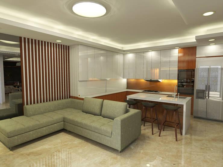 Ruang Keluarga + Dapur (Perspektif lain) :   by WARS ( W Architect Studio )