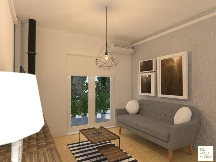غرفة المعيشة تنفيذ Arquimundo 3g - Diseño de Interiores - Ciudad de Buenos Aires