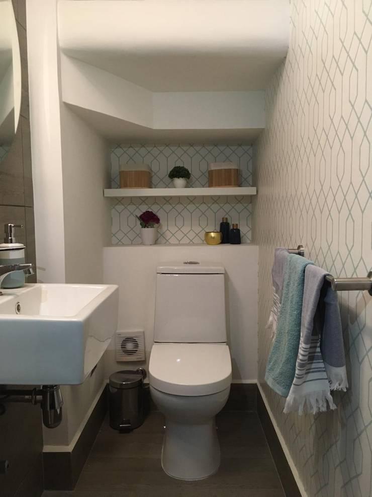 Diseño Interior Casa Chicureo: Baños de estilo  por MM Design