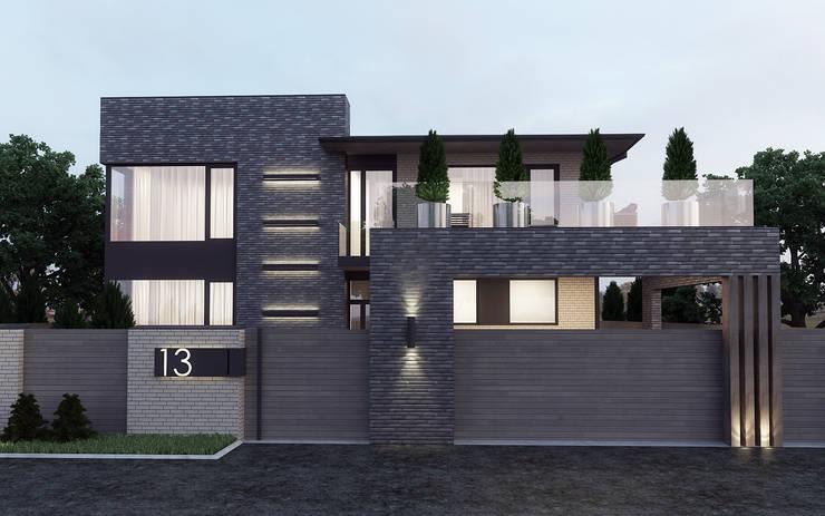 Жилой дом  в кп. Олимпийский  г. Аксай: Загородные дома в . Автор – studio forma