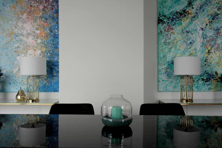Details Esszimmer:  Esszimmer von Anastasia Reicher Interior Design & Decoration in Wien