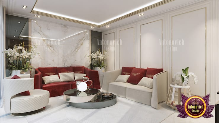 Perfect Luxurious Family Lounge:   by Luxury Antonovich Design