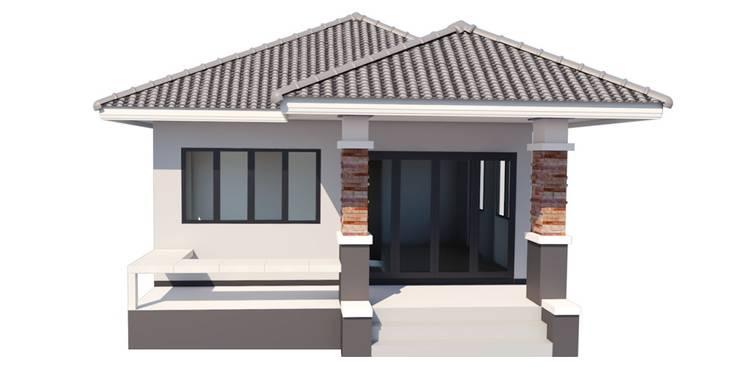 รับสร้าบ้าน ราคา 750,000.-บาท:  บ้านขนาดเล็ก by บริษัท เรืองสุวรรณเฮ้าส์ จำกัด