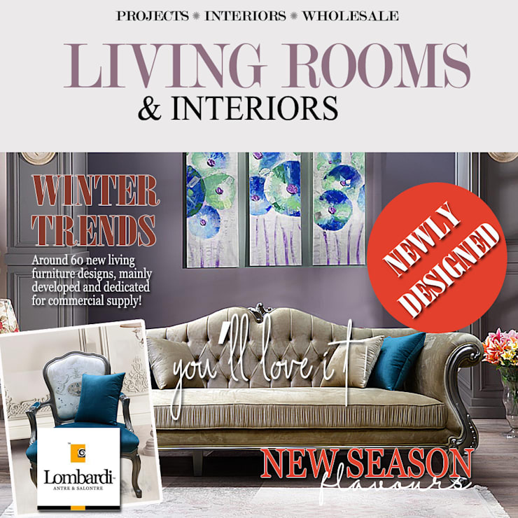 New Classic Living Furniture Line :  Living room by Lombardi Furniture