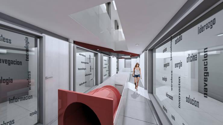 wireless comunicaciones, cali prados del norte: Edificios de oficinas de estilo  por Am arquitectura