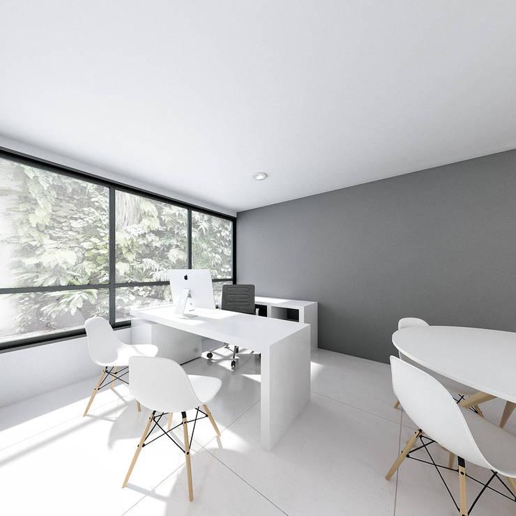 Oficina siglo xxl, cali: Oficinas y Tiendas de estilo  por Am arquitectura,