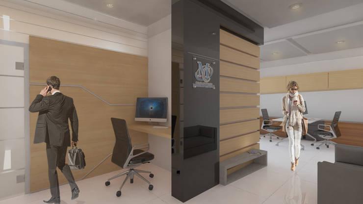Oficina ulpiano lloreda,cali: Oficinas y Tiendas de estilo  por Am arquitectura, Minimalista