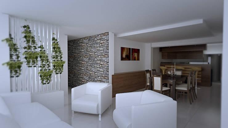 Casa prados del norte,cali: Salas de estilo  por Am arquitectura