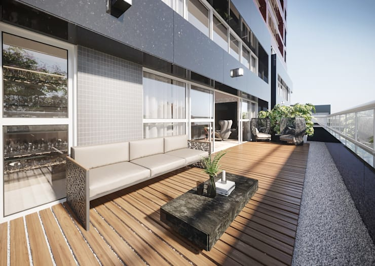 Balcony by Triple Arquitetura Inteligente, Modern