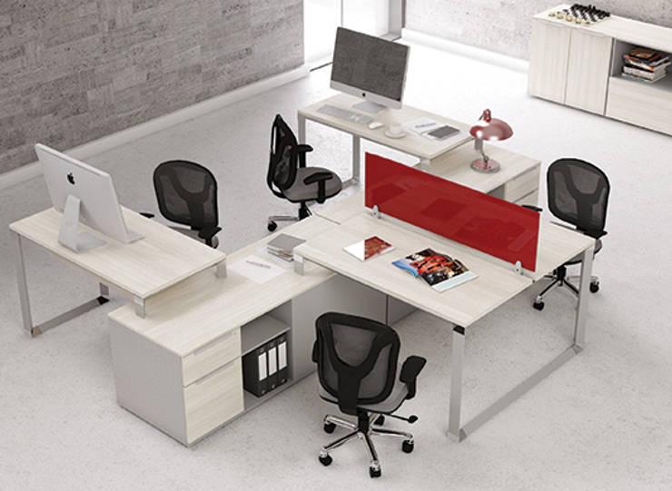 Configuraciones de Trabajo: Estudios y oficinas de estilo  por GREAT+MINI