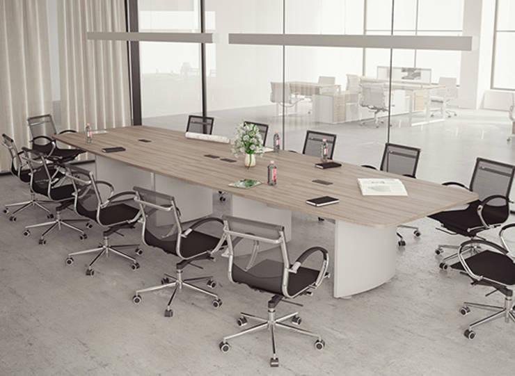Sala de juntas: Estudios y oficinas de estilo  por GREAT+MINI
