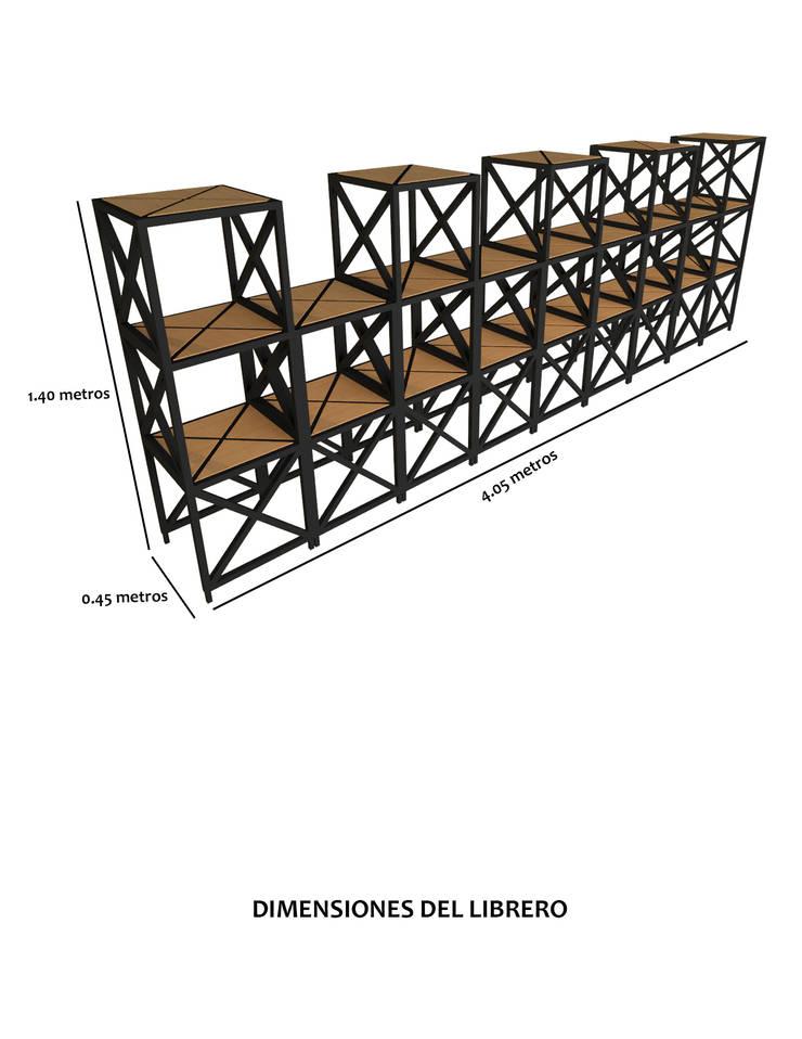 Librero.:  de estilo  por Creer y Crear. Arquitectura/Diseño/Construcción, Ecléctico