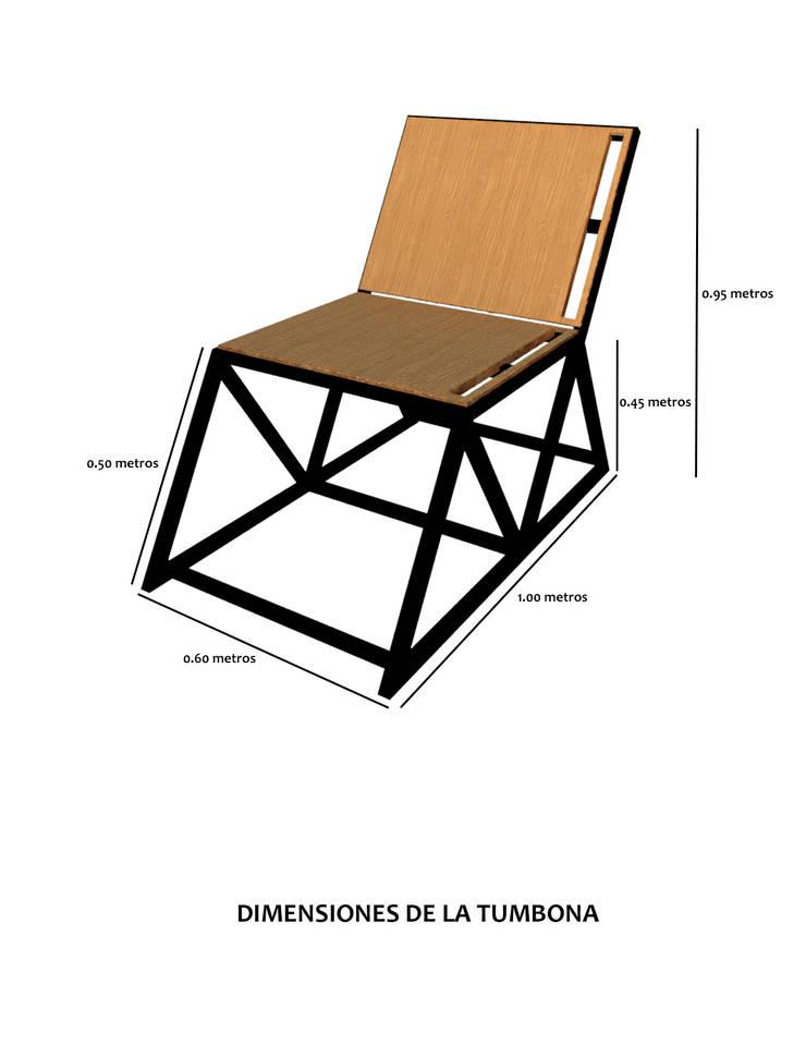 Tumbona.:  de estilo  por Creer y Crear. Arquitectura/Diseño/Construcción, Ecléctico