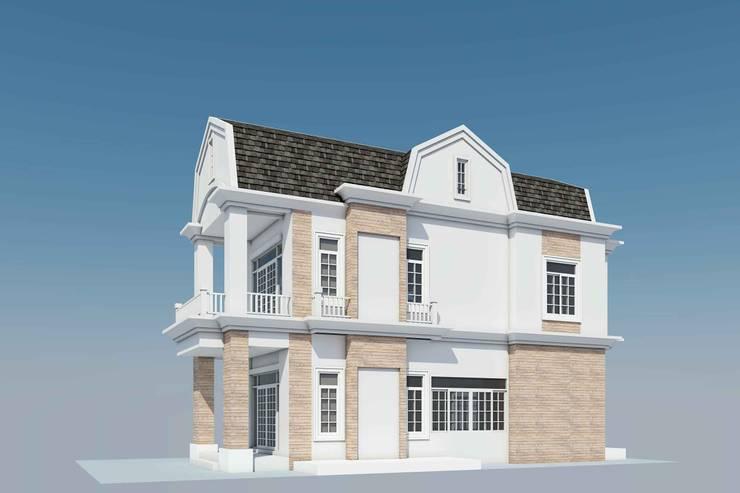 รับสร้างบ้าน และออกแบบบ้าน:  บ้านคันทรี่ by LEK ARCHITECT