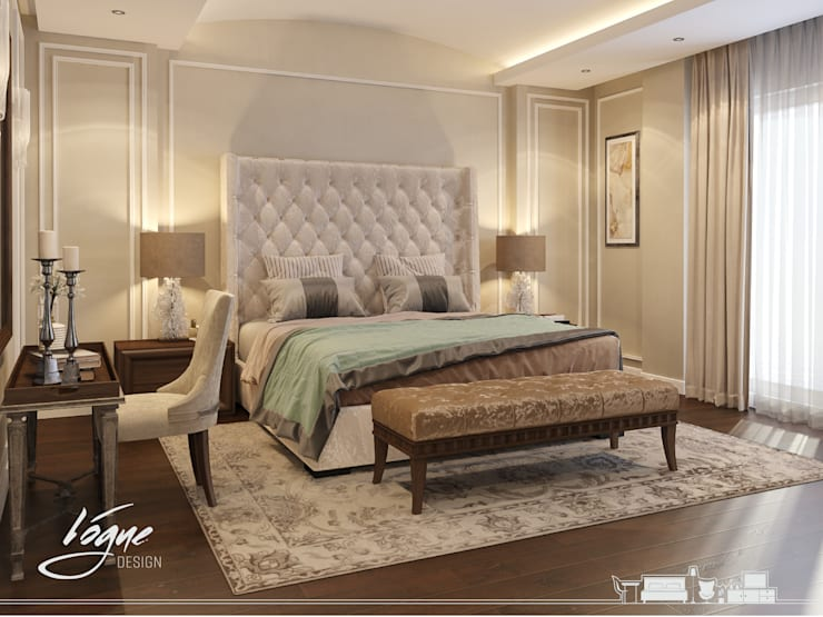 Dormitorios de estilo clásico de Vogue Design Clásico