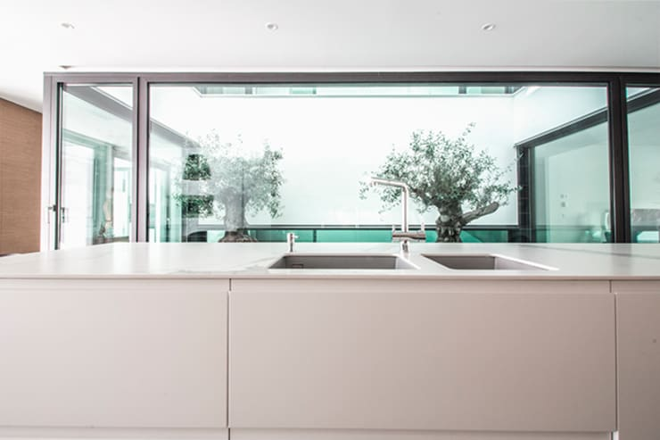 Dapur oleh DonateCaballero Arquitectos, Minimalis