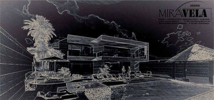 Casa Portales.: Casas de campo de estilo  por MIRAVELA ,