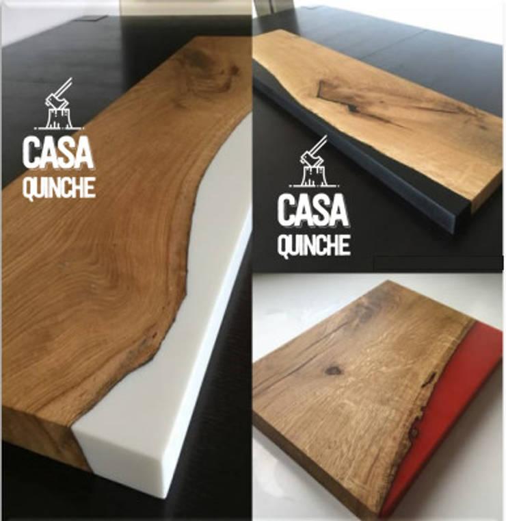 Centros y mesas RAW de Casa Quinche Moderno