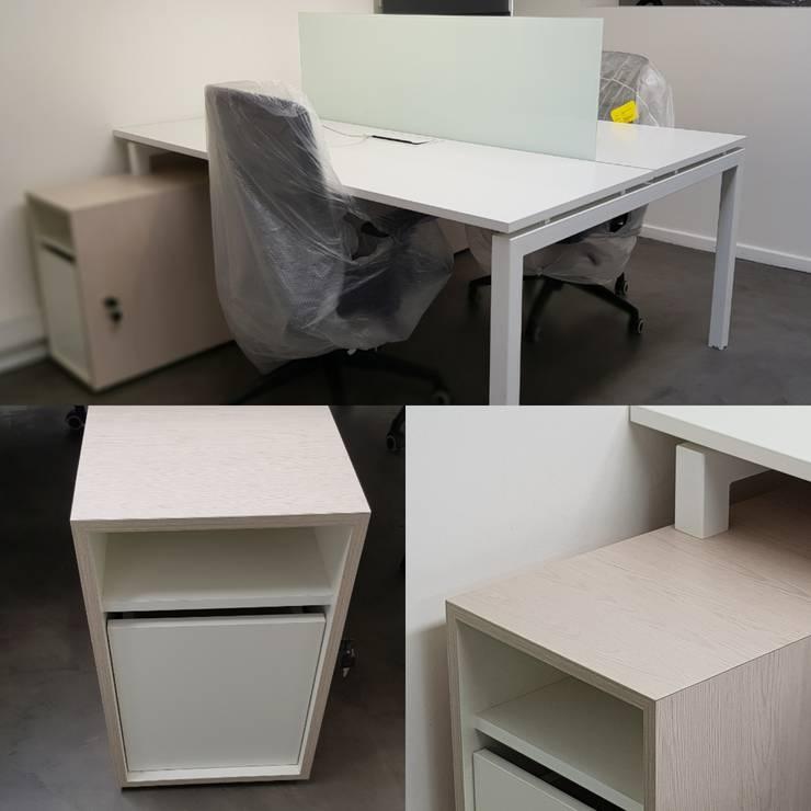 Bench 2 personas enfrentadas. : Oficinas y tiendas de estilo  por SIMPLEMENTE AMBIENTE mobiliarios