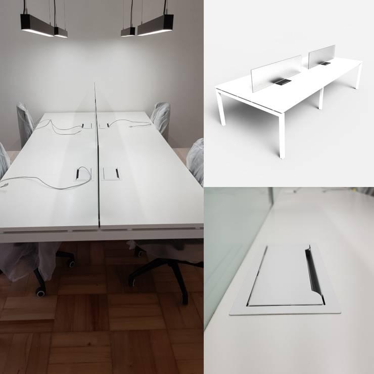 Bench 4 personas: Oficinas y tiendas de estilo  por SIMPLEMENTE AMBIENTE mobiliarios