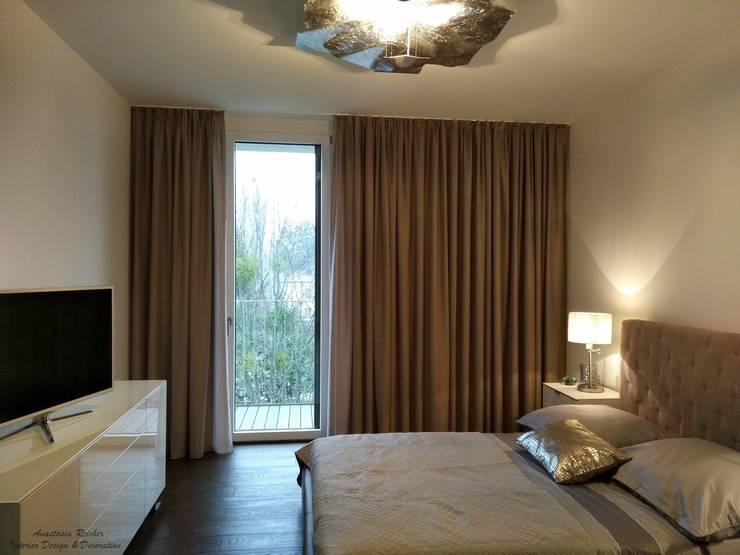 Schlafzimmer:  Schlafzimmer von Anastasia Reicher Interior Design & Decoration in Wien