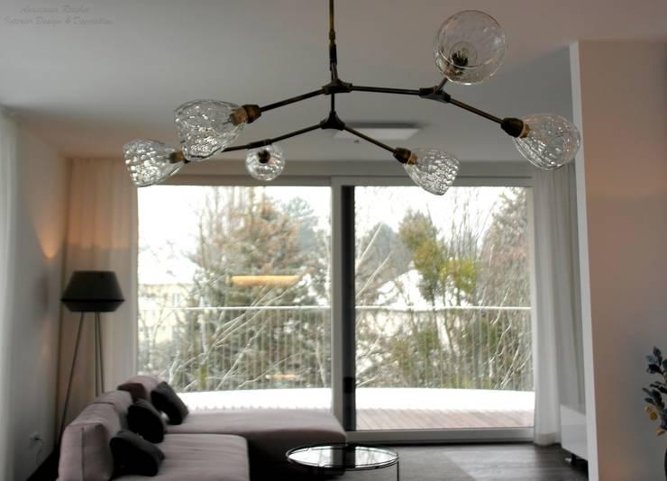 Details Wohnzimmer:  Wohnzimmer von Anastasia Reicher Interior Design & Decoration in Wien
